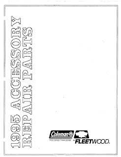 1995 Coleman Popup Camper Accessories Repair Parts Manual