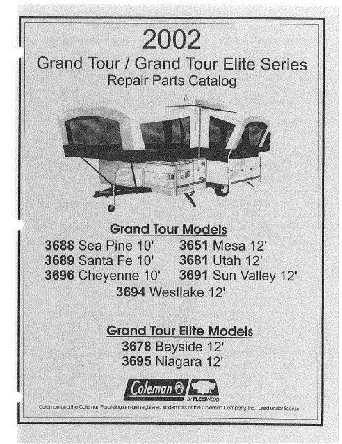 2002 Grand Tour?height=320&width=246 2002 coleman popup camper repair parts manuals camper solutions Coleman Mach Wiring-Diagram at gsmportal.co