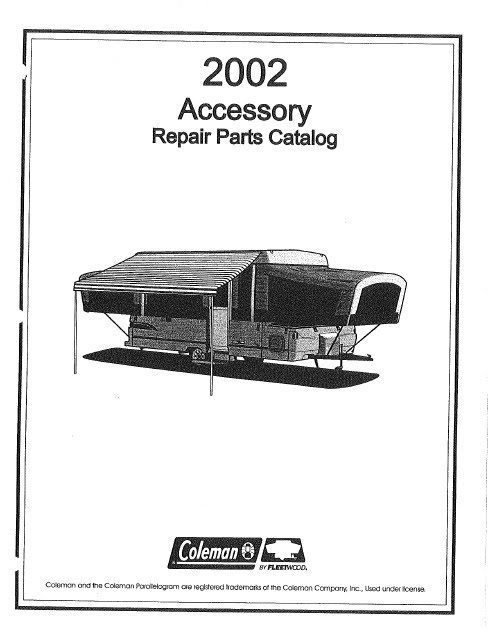 Coleman Camper Manuals Pop Up Campers Trailer